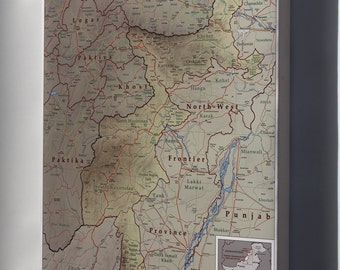 Canvas 24x36; Map Of Tribal Areas Fata Pakistan 2009