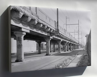Canvas 24x36; Haer Pa,51 Phila,721 2 25Th Street Elevated General View