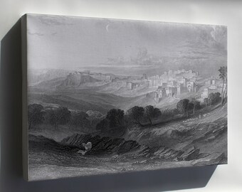 Canvas 24x36; Bethlehem Engraving By William Miller From Imperial Bible Dictionary Art 1866