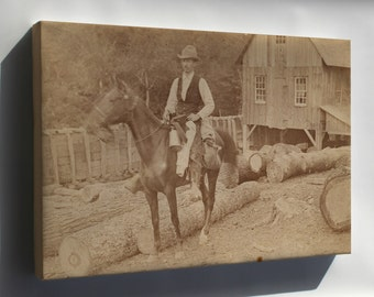 Canvas 16x24; Henry Ossawa Tanner Riding A Horse