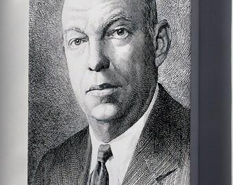 Canvas 16x24; Edwin H. Armstrong