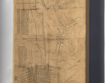 Canvas 16x24; Map Of New Orleans And Vicinity 1819