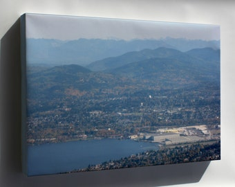 Canvas 16x24; Aerial View Of South End Of Lake Washington