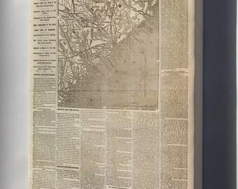 Canvas 16x24; Nyh 1862 Movement Near Charleston, South Carolina