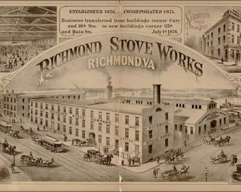 16x24 Poster; Richmond Stove Works Virginia 1877