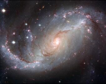 16x24 Poster; Spiral Galaxy Ngc 1672 Hst