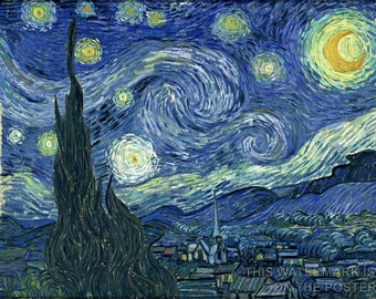 16x24 Poster; Starry Night Vincent Van Gogh, The Starry Night