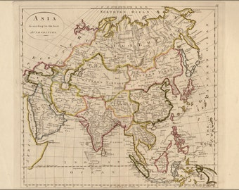 16x24 Poster; Map Of Asia 1814