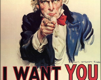 16x24 Poster; Uncle Sam I Want You For Us Army
