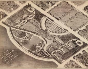 16x24 Poster; View Of The White House Washington D.C. 1857