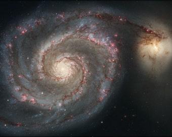 16x24 Poster; Whirlpool Galaxy Messier 51 Galaxy