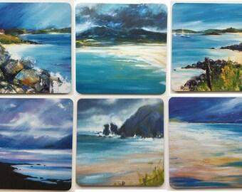 6 Pack Coasters - Hebridean Shores