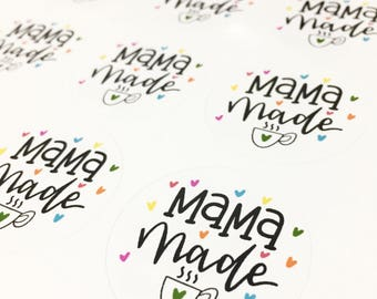 MAMA made Stickers, Packaging Stickers, Labels, Thank You Stickers