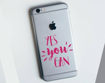Yes You Can! Apple iPhone Decal