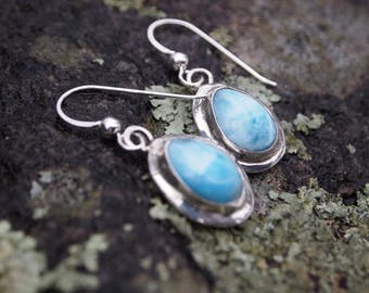 Larimar Teardrop Earings