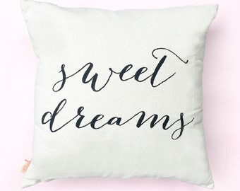Sweet Dreams Pillow, Throw Pillows, Decorative Pillow, Couch Pillow, Accent Pillow, Decorative Throw, Home Decor, Pillow, For Couch