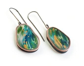 Botanical Irregular Swing Earrings
