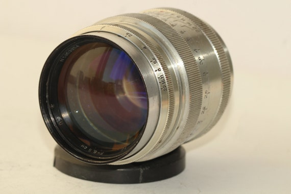 Silver Jupiter-9 2/85mm lens Russian Sonnar copy Telephoto P SLR M42/M39 N590393