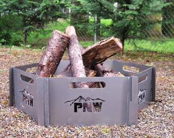 FIRE PIT for the Pacific Northwest. Comes in brushed stainless steel, aluminium, and mild steel.