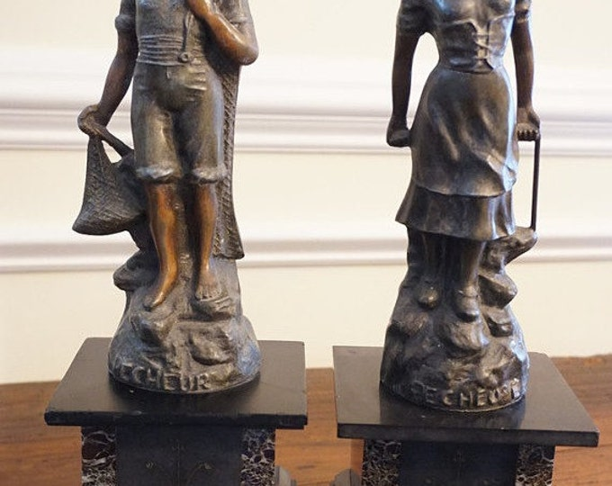 French Spelter Figurines