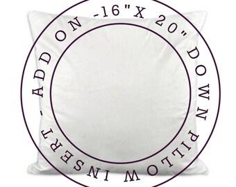 ADD ON - 16x20 Down Pillow Insert