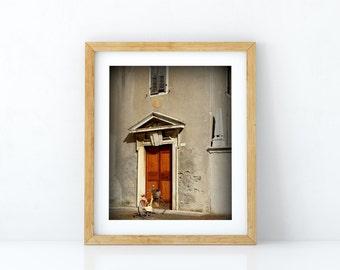 Italy art print - Bici - Rustic Italian art, Bicycle art print, Italian church, Italian door print,  Italian decor, Travel photography art