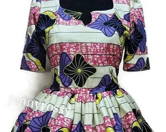 African print Peplum blouse African women clothing Ankara peplum top