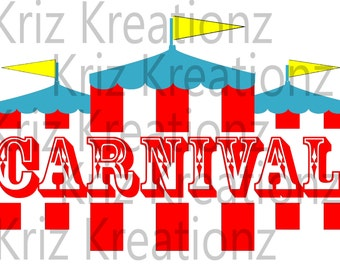 Carnival Tent SVG Cut File