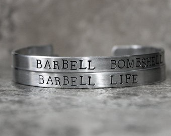 Bracelet, Barbell Life or Barbell Bombshell, Girls Who Lift, Fit Chicks, Powerlifting Jewelry, Weightlifting Bracelet