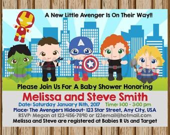 Superhero Baby Shower | Etsy