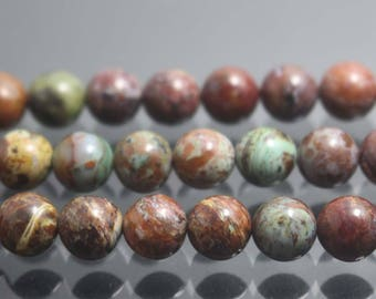 African Green Opal Beads,Natural smooth and Round Beads,4mm 6mm 8mm 10mm Beads,15 inches per strand