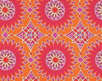 SCHUMACHER ETHNIC CHIC Suzani Tiles Indoor Outdoor Fabric 10 Yards Sunset