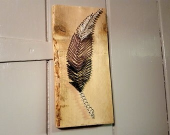 Feather String Art - Perfect Valentines gift - Bird lovers - Craft Shabby Chic Rustic - Hang in the bedroom / kitchen / hallway / utility