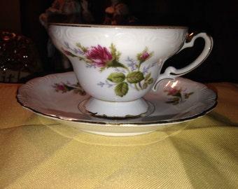 Ucagco Bone China Tea Cup & Saucer