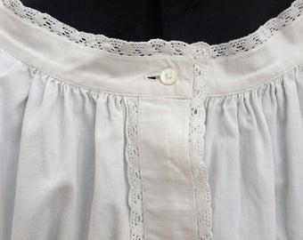 antique Nightgown, linen shirt