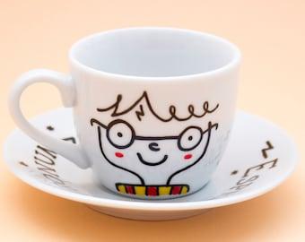 Harry Potter, Espresso Patronum, Italian espresso cup + saucer