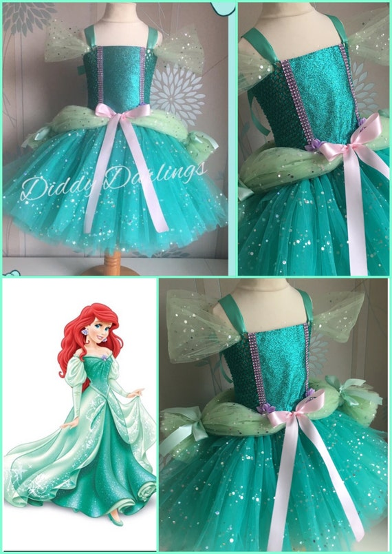 Ariel Ballgown Tutu Dress. Little Mermaid Tutu Dress.Inspired
