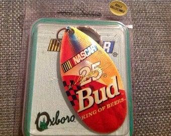 Nascar Bud #25 Wally Dallenbach key chain