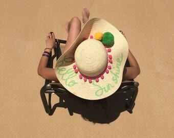 Beach hat , Summer hat , Beach accessory , Spring hat, Straw hat, Stylish hat, Cool beach hat , Personalized hat, Personalized Accessory