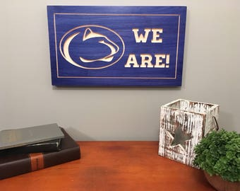 PSU Sign-Penn State University-Nittany Lions-Penn State Carved Sign-Wooden Sign-Stained