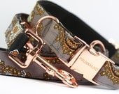 Dog collar DANDY with rose gold colored hardware - handmade - pastel - collar and matching leash available