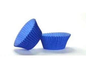 50pc Solid Blue Color Standard Size Cupcake Baking Cups Liners Wrappers