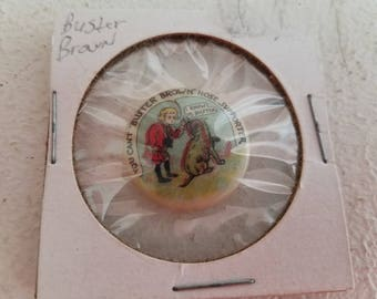 Vintage Buster Brown Advertising Pin
