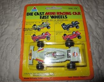 "Vintage Tin Toys Diecast Car : Formula 1 MOC  Hong Kong 2 3/4"" New Ferrari 312 Gulf Oil"