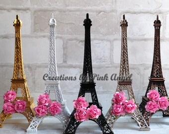 10 inch Eiffel Tower Centerpiece, Black Eiffel Tower, Silver Gold Eiffel Tower, Paris Wedding or Bridal Shower, Paris Centerpiece