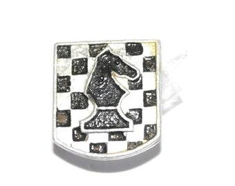 Soviet chess pin badge Knight pin Sports pins Collectibles badges Chessmen pins Collectibles chess