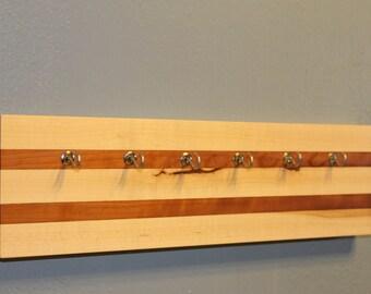 Decorative Hardwood Jewelery Hook Strip