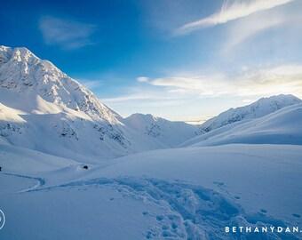 Alaskan Mountain Hike 11x14 Matted Print