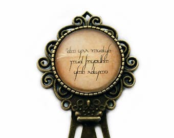 """J.R.R. Tolkien """"Not all those who wander are lost."""" Elven Runes Bookmark"""