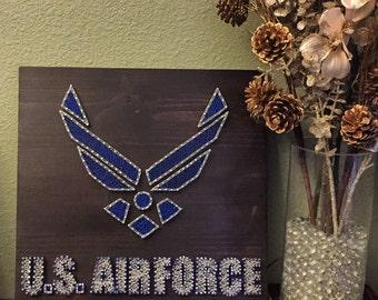 Air Force string art